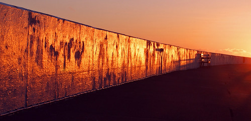 sunrise pier isleofman ramsey breakwater