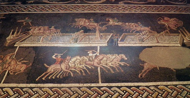 Circus Games Mosaic, 2nd century AD, Gallo-Roman Museum of Lyon, France
