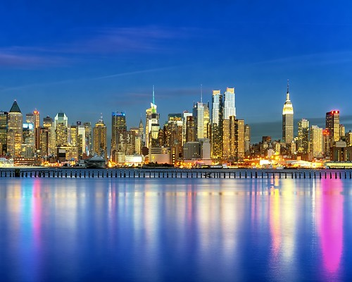 city nyc newyorkcity longexposure sunset ny newyork color colour reflection skyline reflections river geotagged newjersey still mima timessquare esb bankofamerica intrepid hudsonriver empirestatebuilding empirestate gothamist bluehour chryslerbuilding edgewater hdr hoboken newyorktimes weehawken unionhill mudpig stevekelley stevenkelley