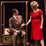 Paul Melendy and Ellen Adair in the Huntington Theatre Company's production of RYAN LANDRY'S