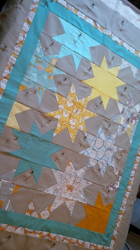 Baby Boy quilt basted