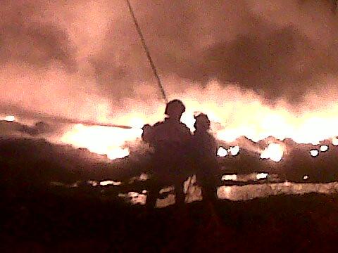 Incendio en Lagunillas