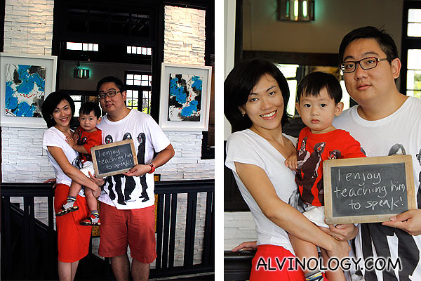 The Alvinology family in matching attire