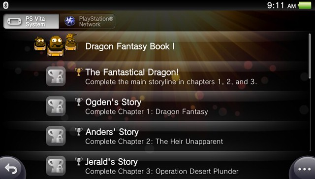 Dragon Fantasy Book I on PSN