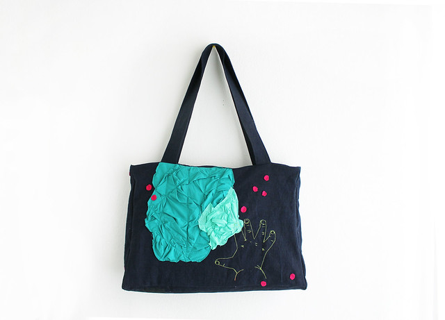 custom made. big tote bag.