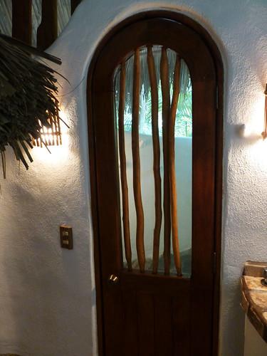Door to shower