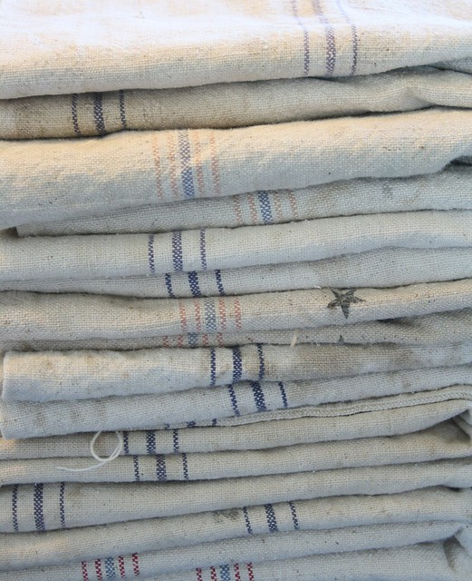 vintage antique grain sacks