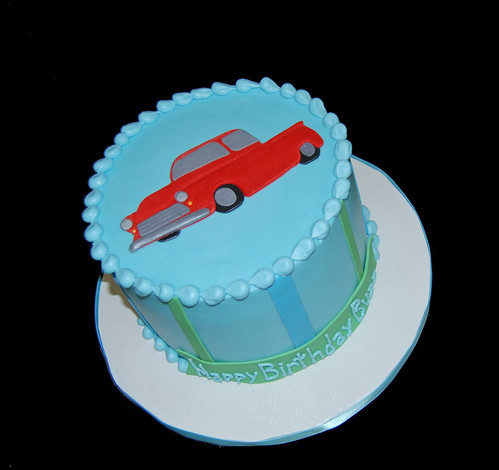 classic 56 chevy pickup birthday cake