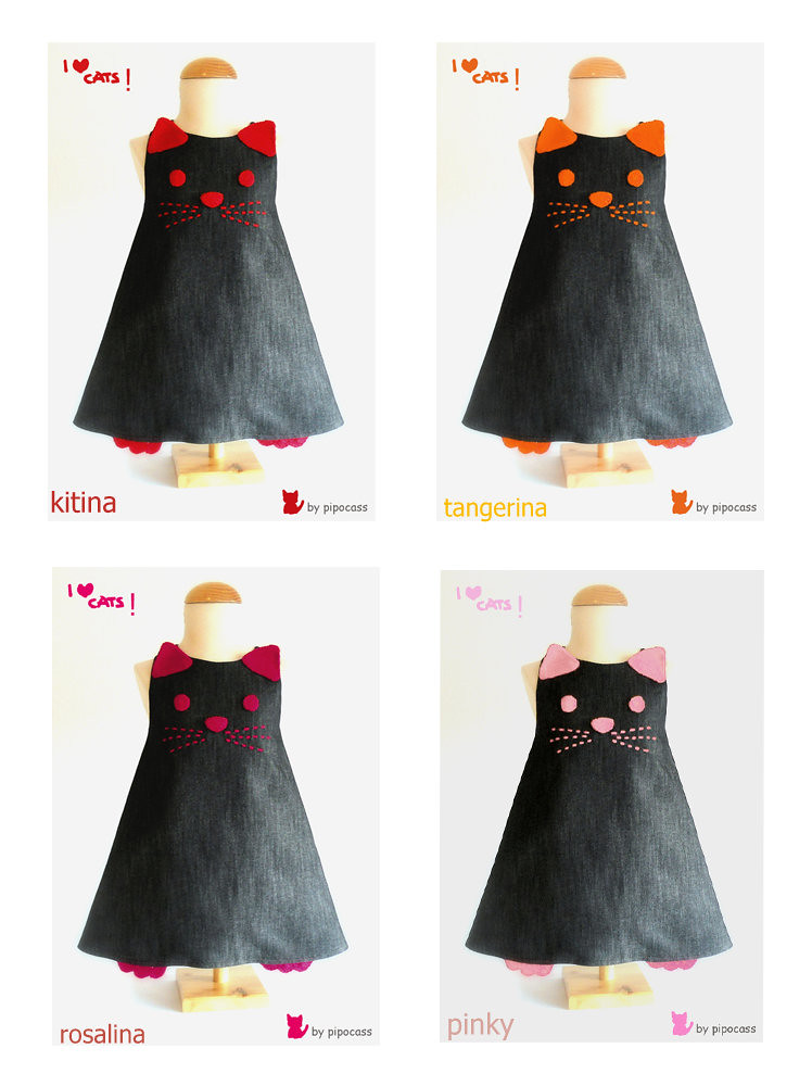 vestidos I love cats