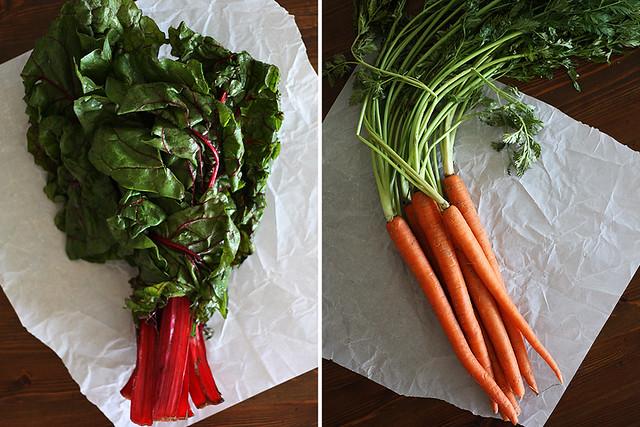 chard + carrots