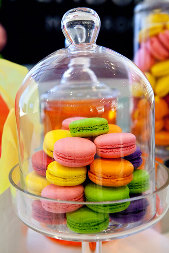 Vendôme macarons on display - and to eat as well