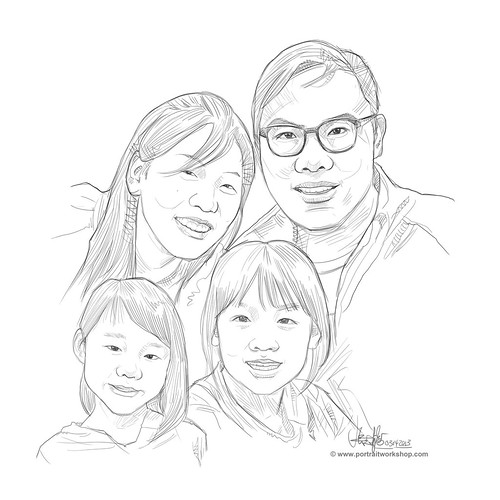 digital family portraits sketch