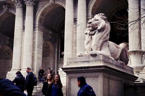 Patience (or is it Fortitude?) at New York Public Library, 5th Avenue & 42nd Street