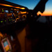 737 cockpit sunset - Phone Wallpaper by gc232