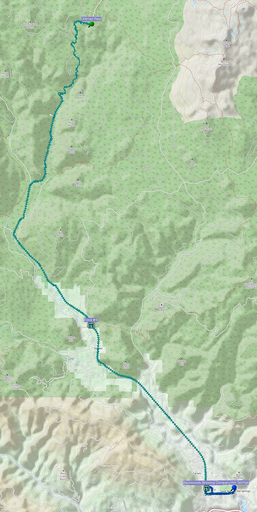 Day 3, Part 2: Oldman Pass to Carson: I got a lift from a kind Skamania County sheriff from Northwoods to Oldmas Pass because I was really tired and it was getting later than I'd like.  Never again with I plan for 70 miles over multiple high passes in a single day.