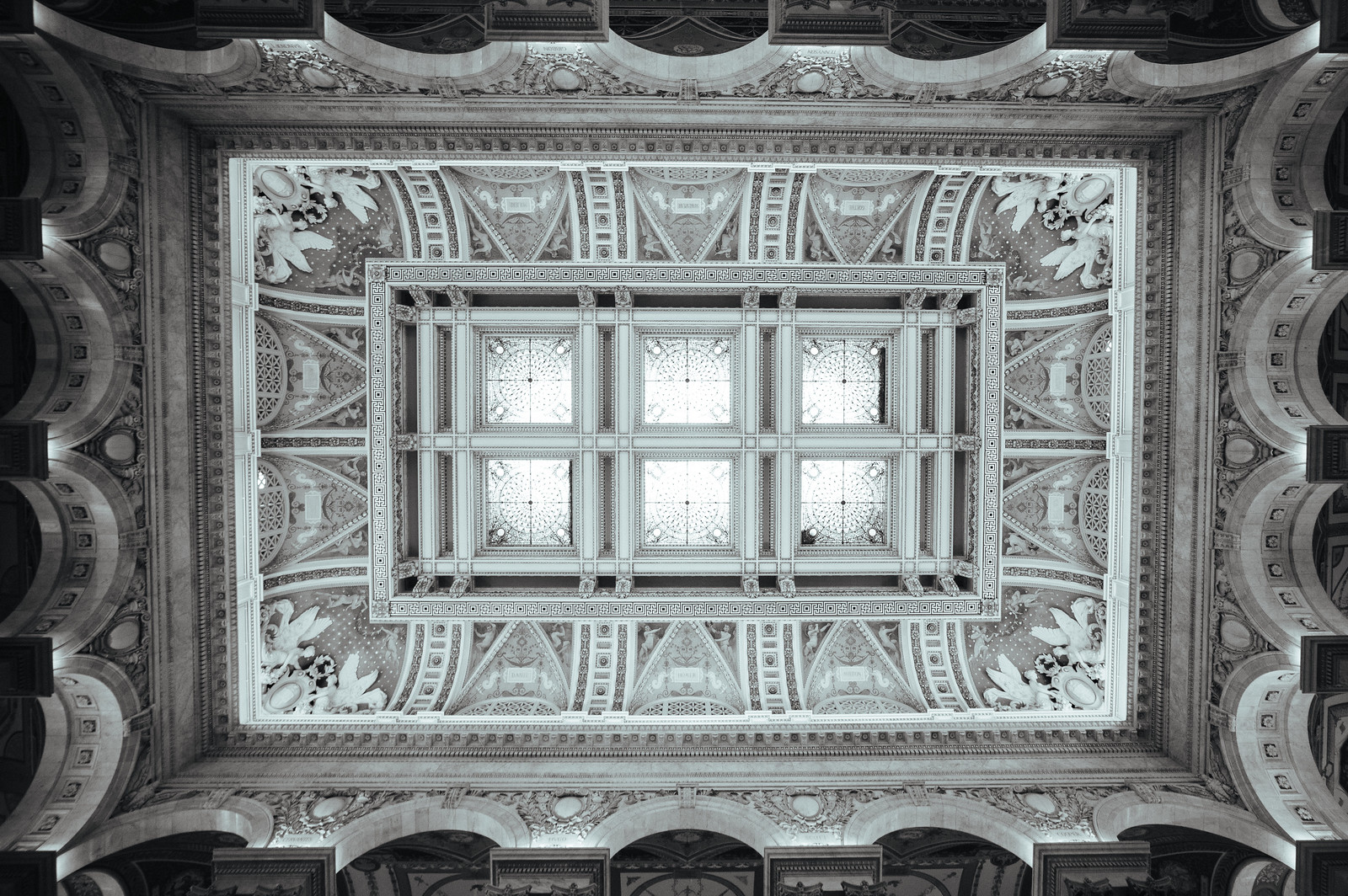"Image titled ""Ceiling, Library of Congress."""