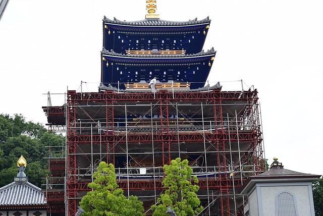 中山寺五重塔再建