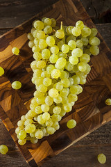 Raw Green Organic Champagne Grapes