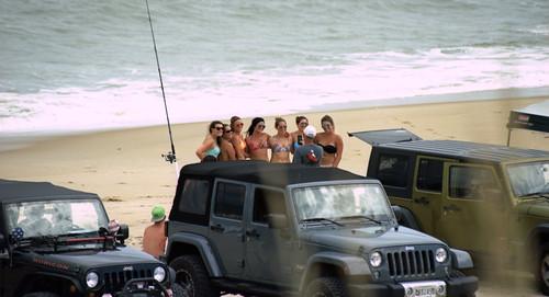 on the  beach / group photo