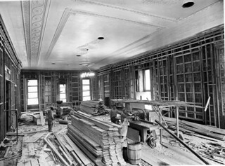 Northeast View in the East Room during the White House Renovation, 06/21/1951