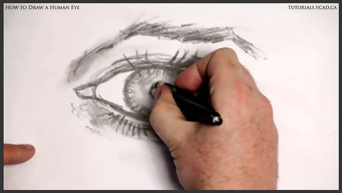 learn how to draw a human eye 022