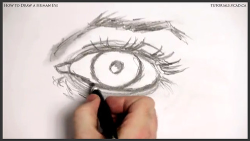 learn how to draw a human eye 015