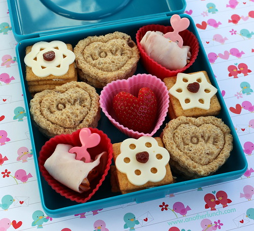 Valentine box of chocolates mini lunch bento snack