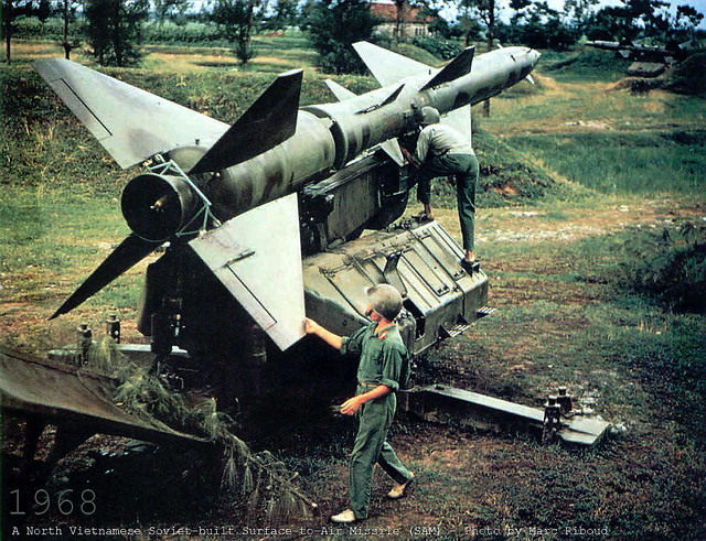 1968 A North Vietnamese Soviet-built Surface-to-Air Missile (SAM)