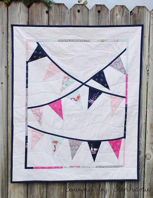 """Out to Sea"" Custom Bunting Quilt"