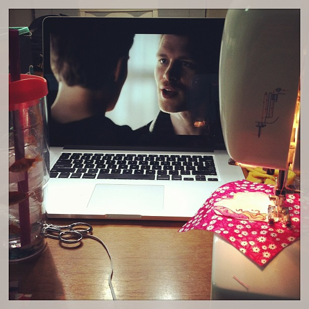 Vampire Diaries. So much better than stitching in silence.