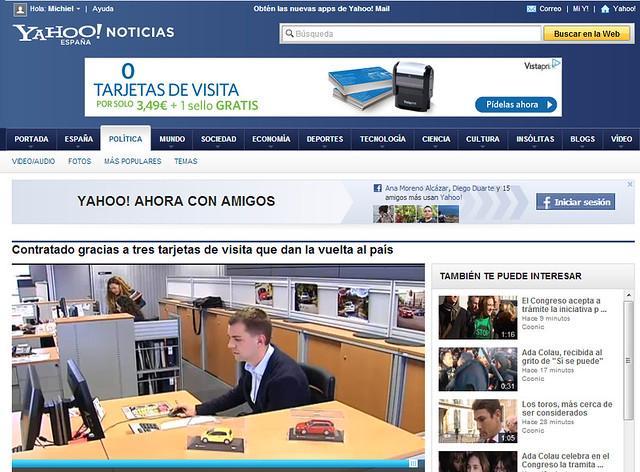 Artículo en la web - es.noticias.yahoo.com (12.02.2013) - castellano