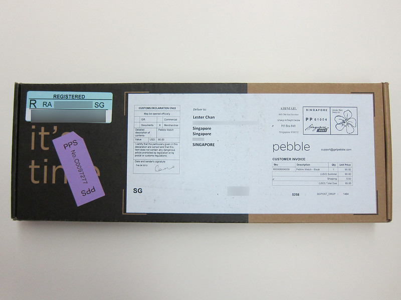 Pebble Watch - Box Front