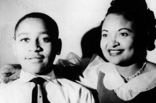 Emmett Till and his mother Mamie Till Mobley in a family photograph. Till was brutally lynched on September 1, 1955 in Money, Mississippi. His death sparked the civil rights movement. by Pan-African News Wire File Photos