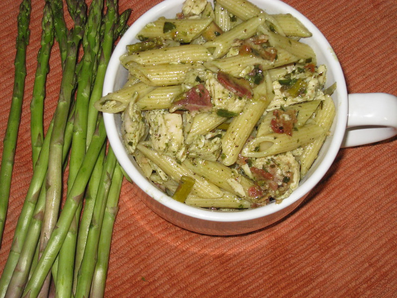 how to make chicken pesto penne pasta