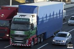 Volvo FH 6x2 Tractor - PX10 DGY - Jessica Sophie Mae - Eddie Stobart - M1 J10 Luton - Steven Gray - IMG_0511