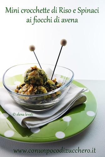 Crocchette di riso e spinaci