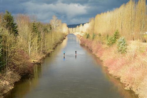 winter nature water river landscape outdoors washington nikon redmond wa february sammamish d600 sammamishriver primelens nikkor50mmf18d nikond600 paddleboarding