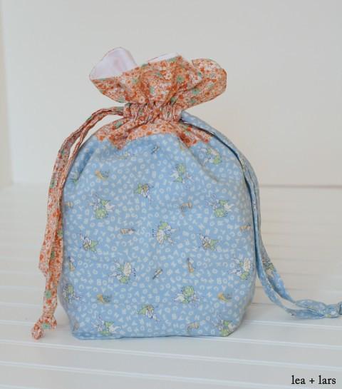 puzzle drawstring bag