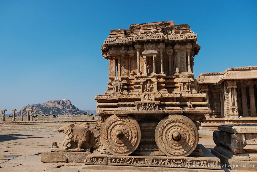 Chariot of Vijayanagar empire, Karnataka, India