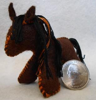 Mini Felt Horses (7)