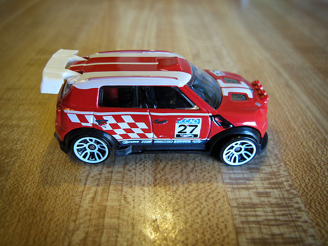 Red MINI Rally Clubman