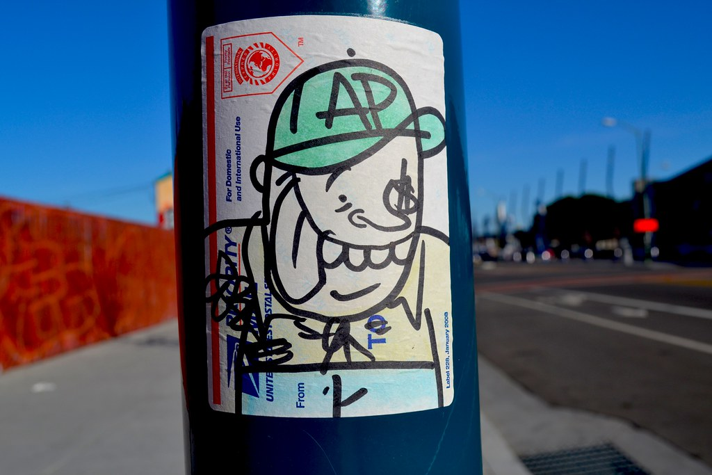 LEACH, Graffiti, Street Art, Sticker, Oakland,