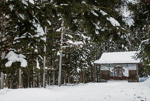 Templo en la nieve