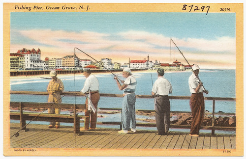 Fishing pier, Ocean Grove, N. J. fishing songs and piers