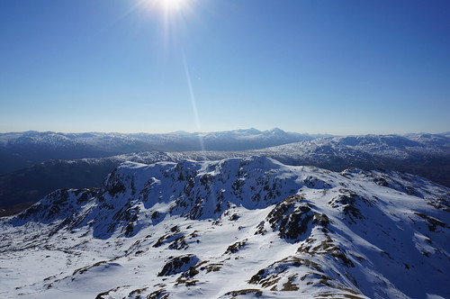 The Creag na Caillich ridge from the summit of Beinn nan Eachan