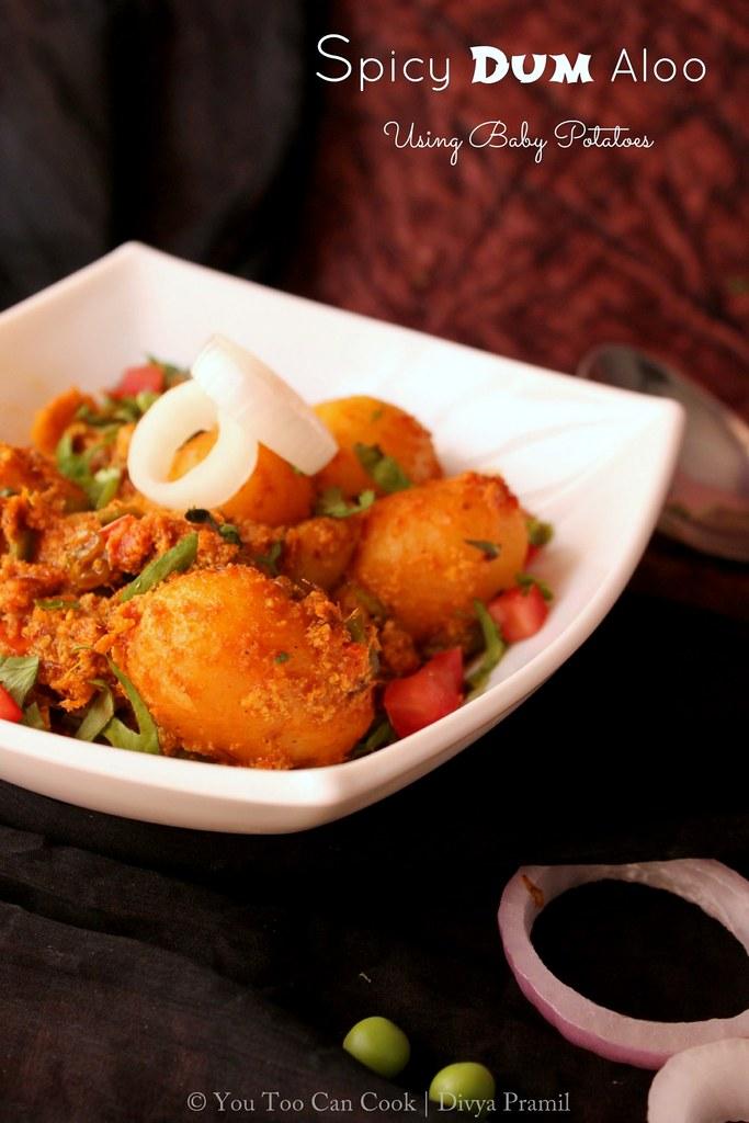 Spicy Dum Aloo   Spicy Baby Potato Masala