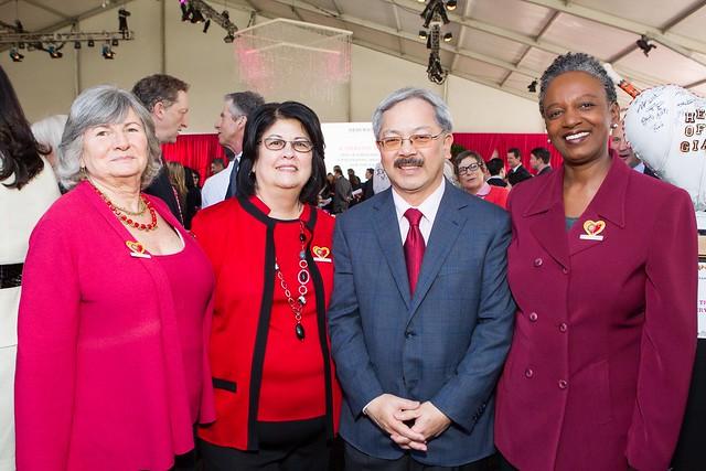 Sue Carlisle, Susan Currin, Mayor Ed Lee, Stephanie Bray