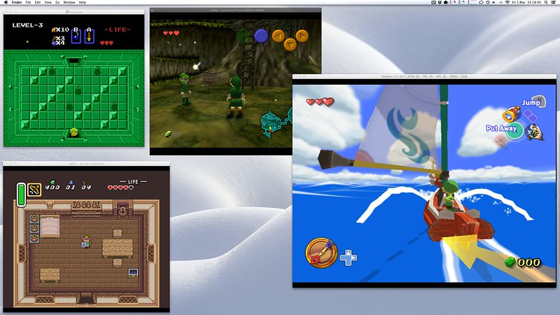 The Legend of Zelda, from NES to Gamecube