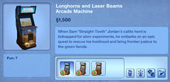 Longhorns and Laser Beams Arcade Machine