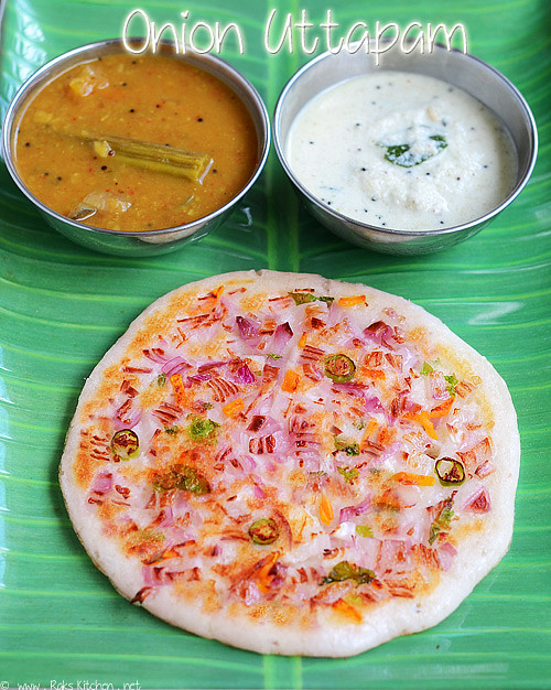 Onion uttapam recipe | South Indian breakfast recipes ...